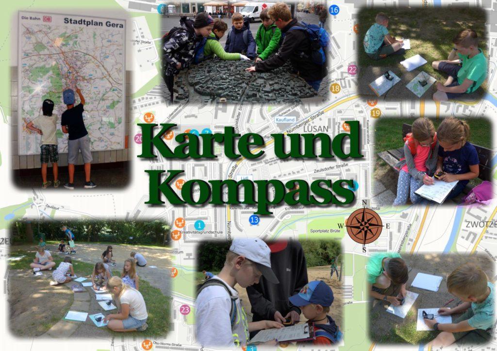 karte kompass